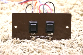 USED AUX / MAIN BATTERY DISCONNECT SWITCH PANEL MOTORHOME PARTS