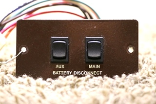 USED AUX / MAIN MOTORHOME BATTERY DISCONNECT SWITCH PANEL L9224ML RV PARTS FOR SALE