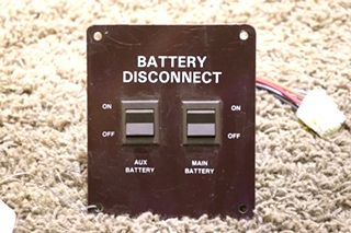 USED RV BATTERY DISCONNECT SWITCH PANEL MOTORHOME PARTS FOR SALE