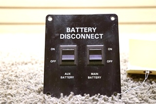 USED AUX / MAIN RV BATTERY DISCONNECT SWITCH PANEL MOTORHOME PARTS FOR SALE