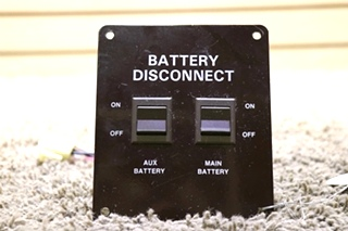 USED BATTERY DISCONNECT MOTORHOME SWITCH PANEL RV PARTS FOR SALE