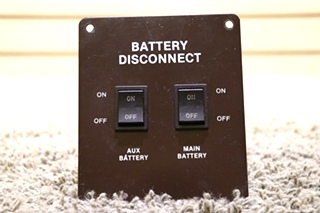USED RV AUX / MAIN BATTERY DISCONNECT SWITCHES MOTORHOME PARTS FOR SALE