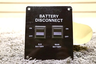 USED MOTORHOME BATTERY DISCONNECT SWITCH PANEL RV PARTS FOR SALE