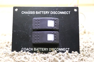 USED CHASSIS / COACH RV BATTERY DISCONNECT SWITCH PANEL MOTORHOME PARTS FOR SALE