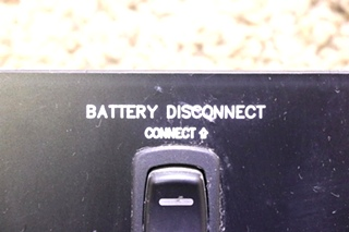 USED RV COACH CONNECT / DISCONNECT BATTERY DISCONNECT SWITCH PANEL MOTORHOME PARTS FOR SALE