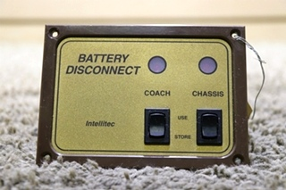USED INTELLITEC BATTERY DISCONNECT 01-00066-002 RV SWITCH PANEL MOTORHOME PARTS FOR SALE