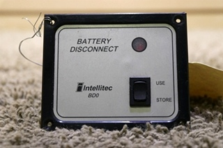 USED MOTORHOME 01-00066-004 BATTERY DISCONNECT INTELLITEC BD0 RV PARTS FOR SALE