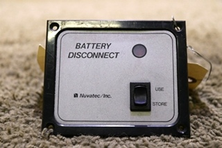 USED RV NUVATEC INC BATTERY DISCONNECT SWITCH PANEL MOTORHOME PARTS FOR SALE