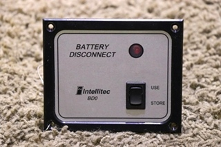 USED MOTORHOME INTELLITEC BD0 BATTERY DISCONNECT 01-00066-004 SWITCH PANEL RV PARTS FOR SALE