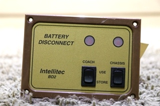 USED 01-00066-002 RV BATTERY DISCONNECT INTELLITEC BD2 SWITCH PANEL MOTORHOME PARTS FOR SALE