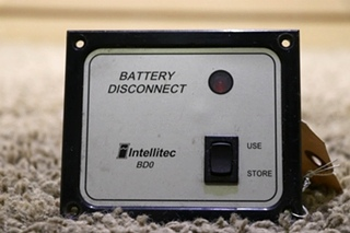 INTELLITEC BD0 USED MOTORHOME BATTERY DISCONNECT SWITCH 01-00066-004 SWITCH PANEL RV PARTS FOR SALE