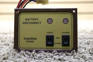 USED RV 00-00588-201 INTELLITEC BD5882 BATTERY DISCONNECT SWITCH PANEL MOTORHOME PARTS FOR SALE