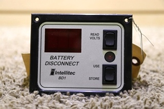 USED INTELLITEC MOTORHOME BATTERY DISCONNECT SWITCH PANEL 01-00066-005 RV PARTS FOR SALE