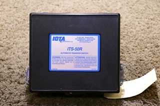 USED IOTA ENGINEERING ITS-50R RV AUTOMATIC TRANSFER SWITCH MOTORHOME PARTS FOR SALE