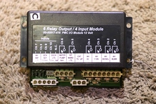 USED MOTORHOME INTELLITEC 6 RELAY OUTPUT / 4 INPUT MODULE 00-00917-416 PMC I/O MODULE RV PARTS FOR SALE