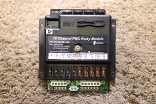 USED RV 00-00838-410 10 CHANNEL PMC RELAY MODULE BY INTELLITEC