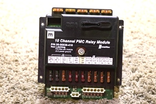 USED 00-00838-410 MOTORHOME INTELLITEC 10 CHANNEL PMC RELAY MODULE RV PARTS FOR SALE