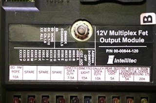 USED MOTORHOME 00-00844-120 12V MULTIPLEX FET OUTPUT MODULE BY INTELLITEC RV PARTS FOR SALE