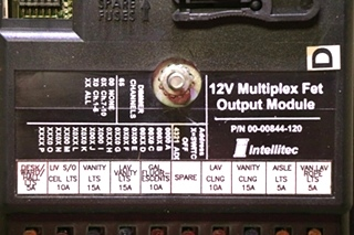 USED 00-00844-120 INTELLITEC RV 12V MULTIPLEX FET OUTPUT MODULE MOTORHOME PARTS FOR SALE