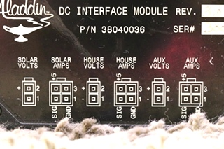 USED 38040036 ALADDIN MOTORHOME DC INTERFACE MODULE RV PARTS FOR SALE