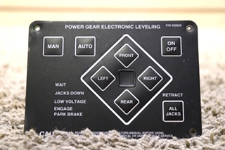 USED 500629 POWER GEAR ELECTRONIC LEVELING TOUCH PAD RV PARTS FOR SALE