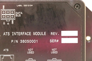 USED 38050001 RV ALADDIN ATS INTERFACE MODULE MOTORHOME PARTS FOR SALE