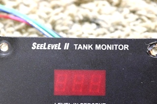 USED RV SEELEVEL II TANK MONITOR 709-01783 BY GARNET INSTRUMENTS MOTORHOME PARTS FOR SALE