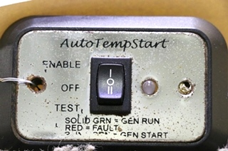 USED MOTORHOME AUTOTEMPSTART SWITCH PANEL A9159CH RV PARTS FOR SALE