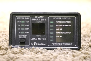 USED MOTORHOME 50 AMP SMART EMS BY INTELLITEC DISPLAY PANEL 00-00903-150 RV PARTS FOR SALE