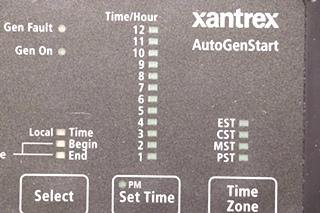 USED 84-2057-00 RV XANTREX AUTOGENSTART REMOTE PANEL MOTORHOME PARTS FOR SALE