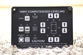 USED RV AP24249 HWH COMPUTERIZED LEVELING TOUCH PAD MOTORHOME PARTS FOR SALE
