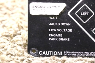 USED POWER GEAR ELECTRONIC LEVELING TOUCH PAD 140-1226 MOTORHOME PARTS FOR SALE