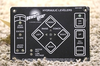 USED MOTORHOME POWER GEAR HYDRAULIC LELEVERS TOUCH PAD 500105E RV PARTS FOR SALE