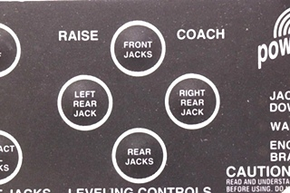 USED RV 500731 POWER GEAR LEVELING CONTROLS TOUCH PAD MOTORHOME PARTS FOR SALE