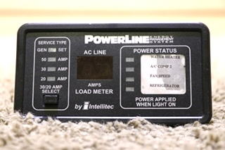 USED RV PowerLine BY INTELLITEC EMS DISPLAY PANEL 00-00634-000 MOTORHOME PARTS FOR SALE