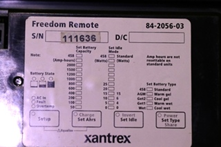 USED XANTREX FREEDOM REMOTE 84-2056-03 MOTORHOME PARTS FOR SALE