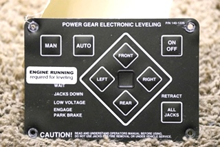 USED MOTORHOME 140-1226 POWER GEAR ELECTRONIC LEVELING TOUCH PAD FOR SALE