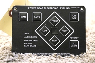 USED 140-1226 POWER GEAR ELECTRONIC LEVELING TOUCH PAD RV PARTS FOR SALE