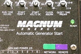 USED RV MAGNUM ENERGY AUTOMATIC GENERATOR START MOTORHOME PARTS FOR SALE