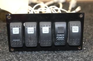 USED RV/MOTORHOME 5 SWITCH PANEL PN: 38050095c DATE: 9-13-04