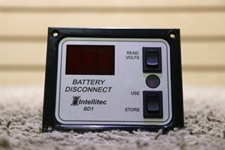 USED MOTORHOME INTELLITEC BD1 BATTERY DISCONNECT SWITCH PANEL 01-00066-005 FOR SALE