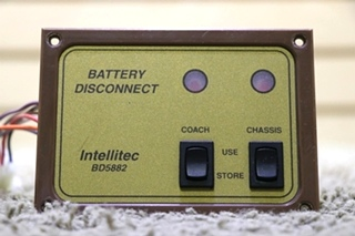 USED 00-00588-201 RV INTELLITEC BD5882 BATTERY DISCONNECT SWITCH PANEL FOR SALE