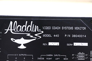 USED 38040014 ALADDIN VIDEO COACH SYSTEMS MONITOR MOTORHOME PARTS FOR SALE