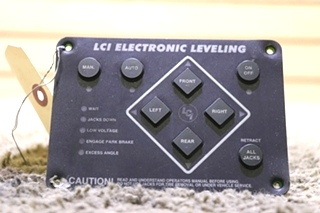 LCI ELECTRONIC LEVELING TOUCH PAD USED RV PARTS FOR SALE