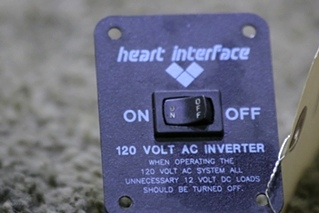USED HEART INTERFACE 120 VOLT AC INVERTER RV/MOTORHOME PART FOR SALE