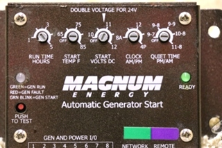USED MAGNUM ENERGY AUTO GENERATOR START MOTORHOME PARTS FOR SALE