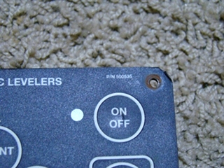 Used Power Gear 500535 Leveling Control Panel