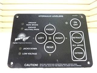 NEW POWER GEAR HYDRAULIC LEVELING CONTROL PAD P/N 500535 FOR SALE
