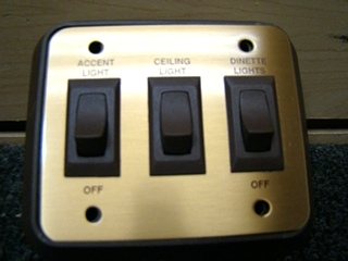 NEW/OLD STOCK SIGMA THREE WAY GOLD & BROWN LIGHT SWITCH P/N:4.128.745 PRICE:$55.00
