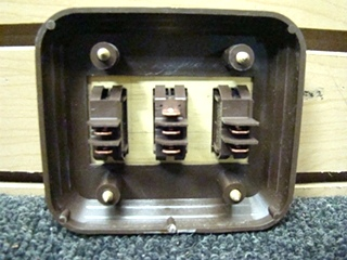 NEW/OLD STOCK SIGMA THREE WAY GOLD & BROWN LIGHT SWITCH P/N:4.128.745